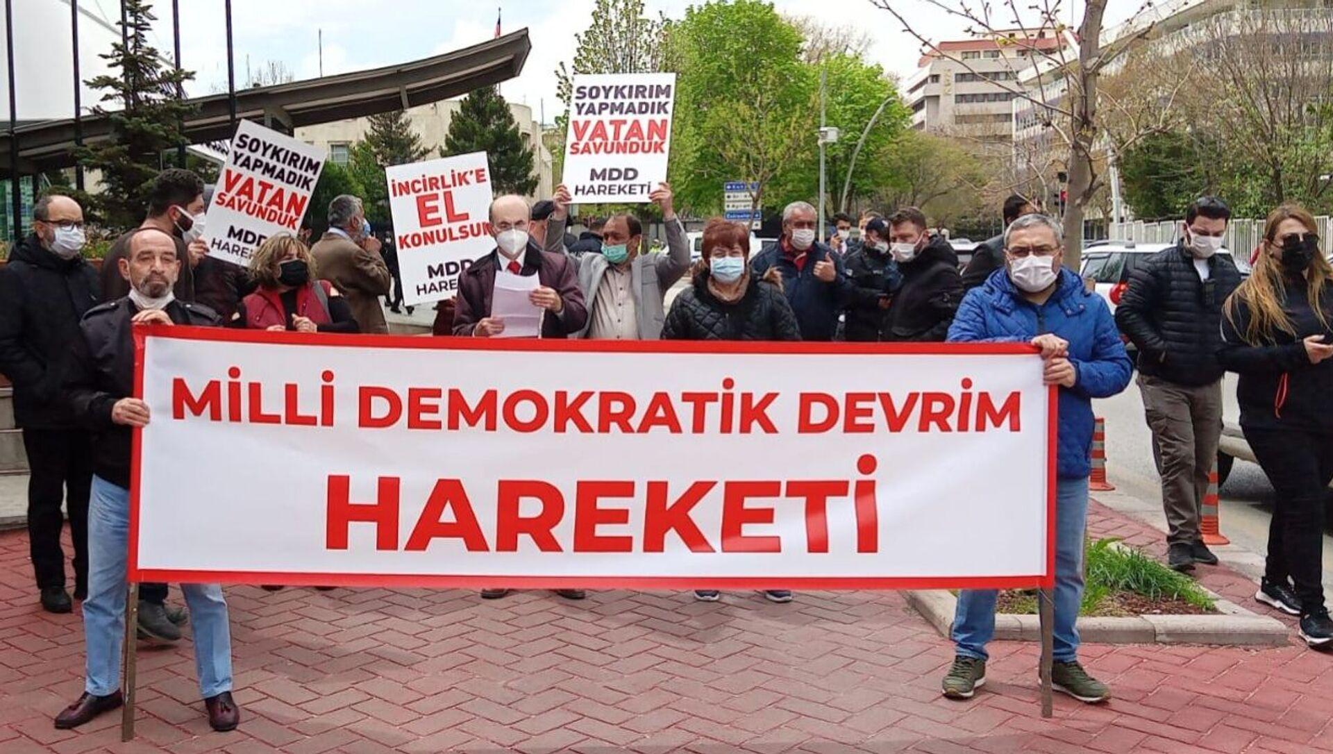 MDD Hareketi, Biden'ın 'soykırım' açıklamasını protesto etti - Sputnik Türkiye, 1920, 26.04.2021