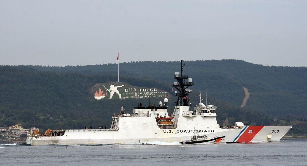 753 borda numaralı Sahil Güvenlik gemisi 'USS Hamilton'
