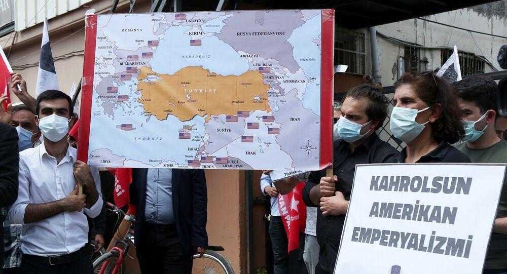 Vatan Partisi ve TGB, Adana İncirlik Üssü önünde protesto yaptı