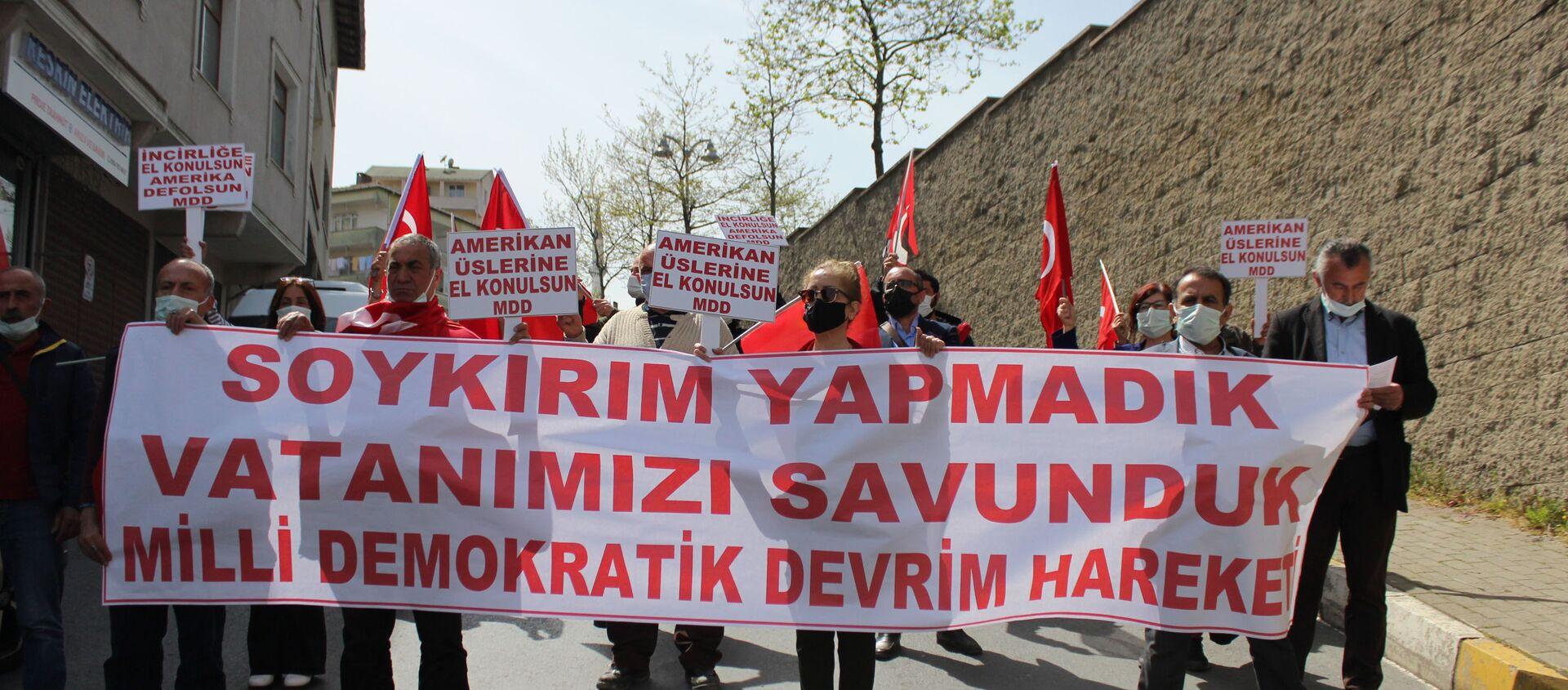 MDD Hareketi, Biden'ın 'soykırım' açıklamasını protesto etti - Sputnik Türkiye, 1920, 27.04.2021