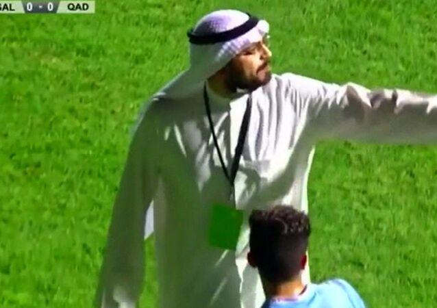 Başkan sahaya indi, penaltıyı iptal ettirdi