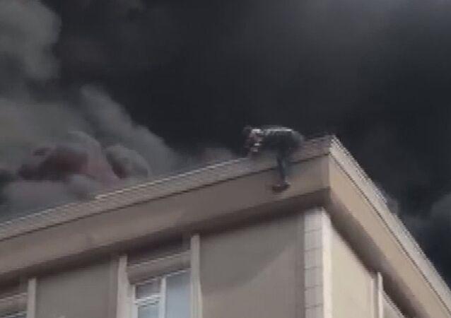Bağcılar'da çatı yangını