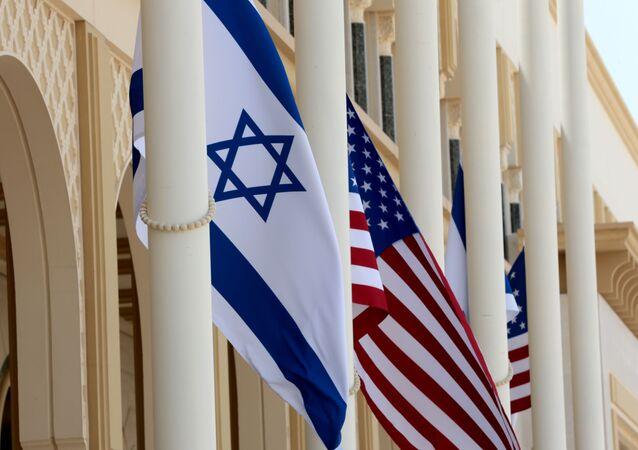 ABD ile İsrail bayrakları