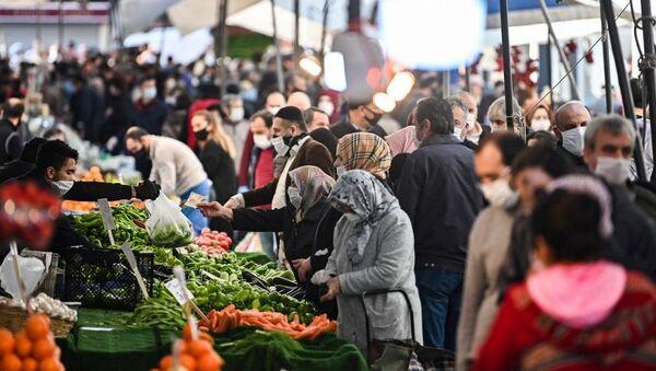 Türkiye - koronavirüs - pazar - alışveriş - gıda - Sputnik Türkiye