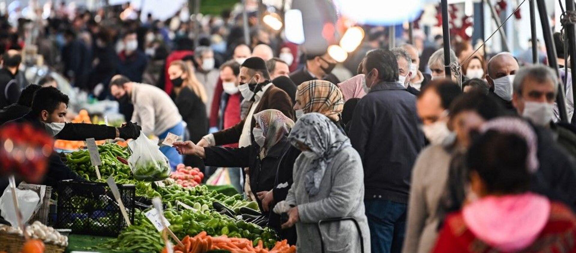 Türkiye - koronavirüs - pazar - alışveriş - gıda - Sputnik Türkiye, 1920, 03.06.2021
