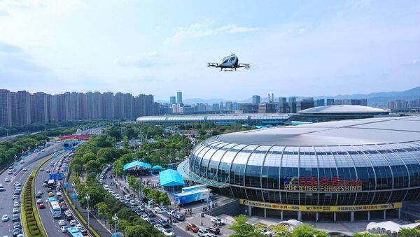 Çin'de sürücüsüz drone taksi 2 yolcusuyla uçtu - Sputnik Türkiye