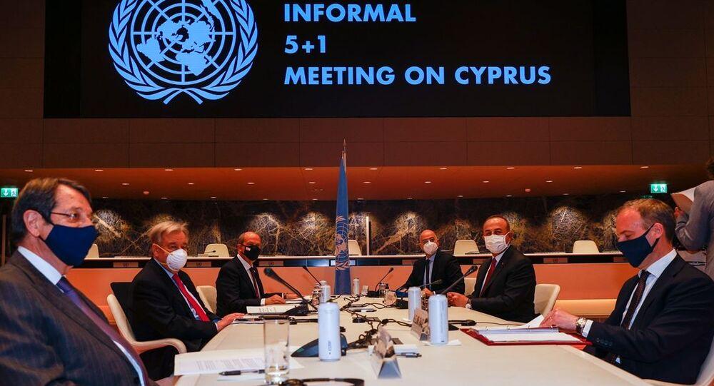 5+1 gayriresmi Kıbrıs konferansı, Mevlüt Çavuşoğlu