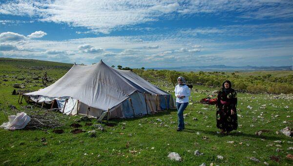 Doktora tezi için göçerlerle yaşayan Özlem Akgün - Sputnik Türkiye