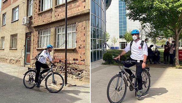 Türkiye'nin 'bisikletli doktoru': 120 kiloydum, işimi bisikletle yaparak 50 kilo zayıfladım - Sputnik Türkiye