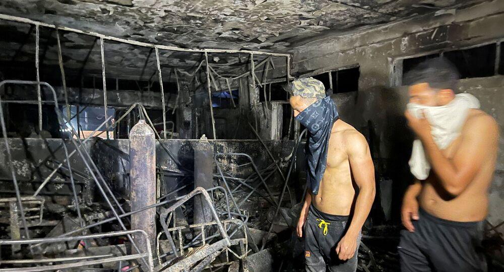 Irak'ta koronavirüs hastalarının bulunduğu hastanede çıkan yangın