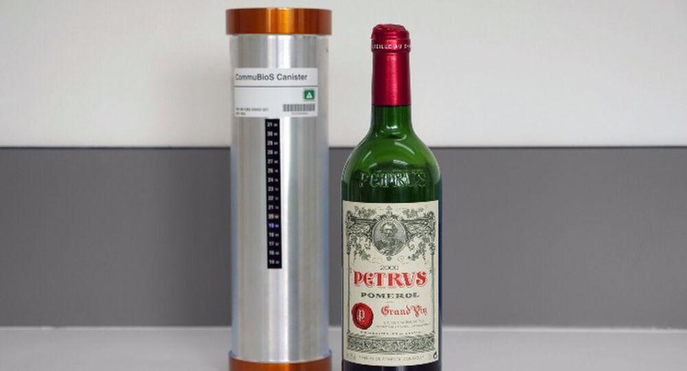 Uzayda yıllandırılan şarap