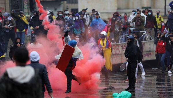 Kolombiya - protesto - Sputnik Türkiye