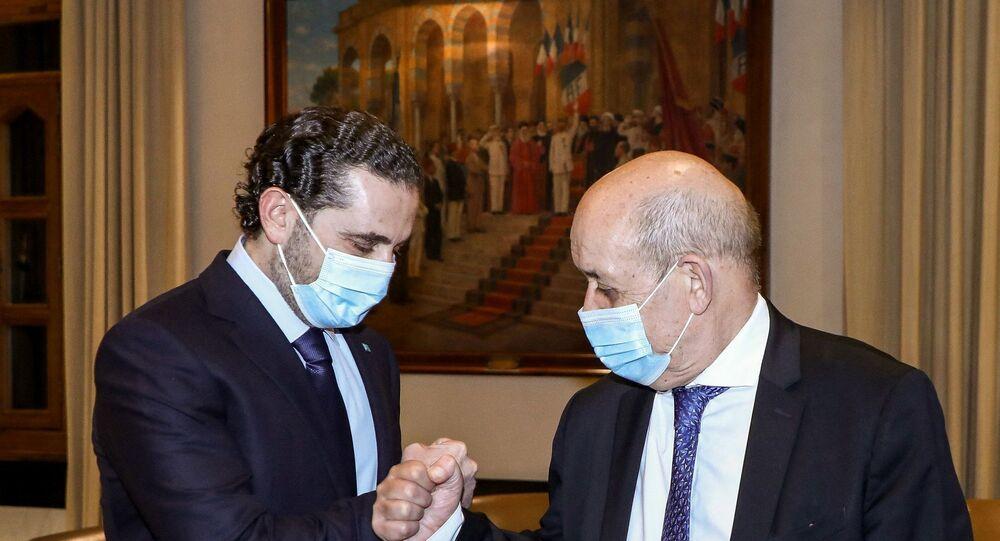 Fransa Dışişleri Bakanı Le Drian - Saad Hariri