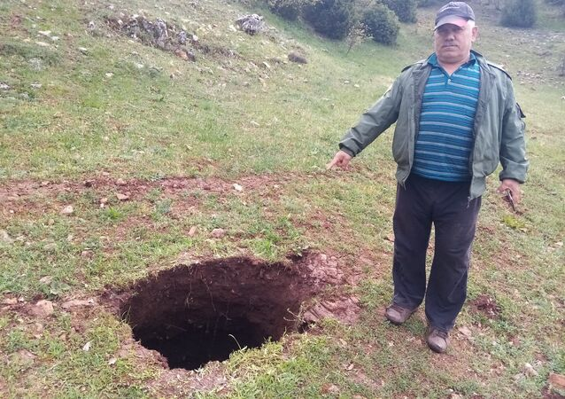 Bilecik, Revnak Köyü, obruk sanılan çukur