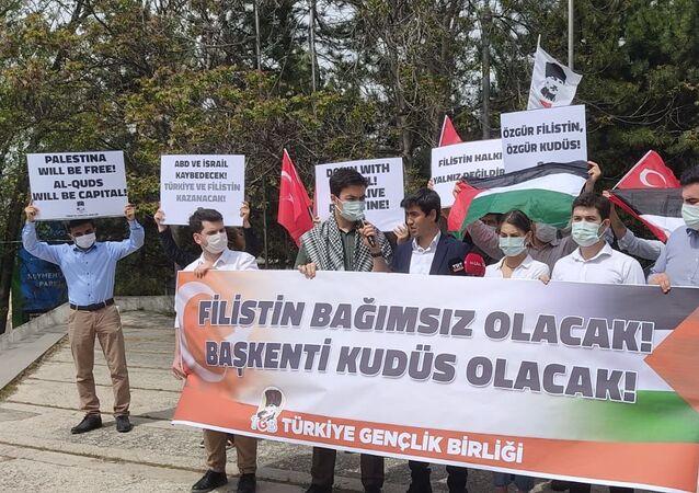 TGB üyeleri, İsrail'in Mescid-i Aksa'ya müdahalesini protesto etti