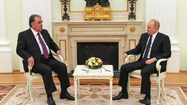 Putin - Tacikistan lideri İmamali Rahman - Sputnik Türkiye
