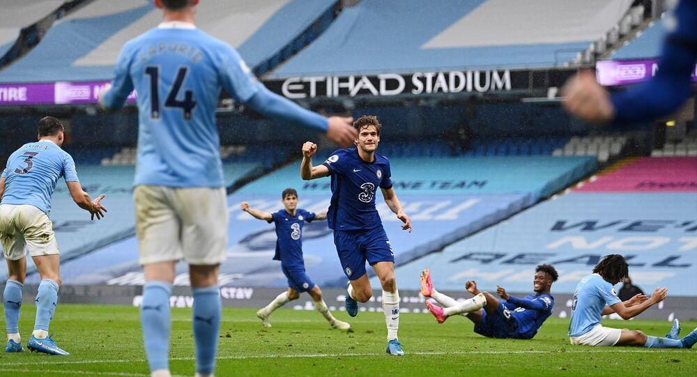 Premier Lig'in35. hafta karşılaşmasında Manchester City, UEFA Şampiyonlar Ligi finalinde de eşleştiği rakibi Chelsea ile Etihad Stadı'nda karşılaştı.
