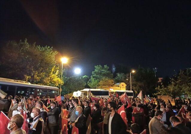 İsrail'in Mescid-i Aksa'ya yönelik müdahalesi Ankara'da protesto ediliyor