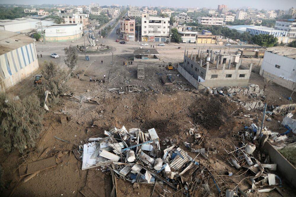 İsrail ordusunun Gazze'ye düzenlediği hava saldırısının sonuçları