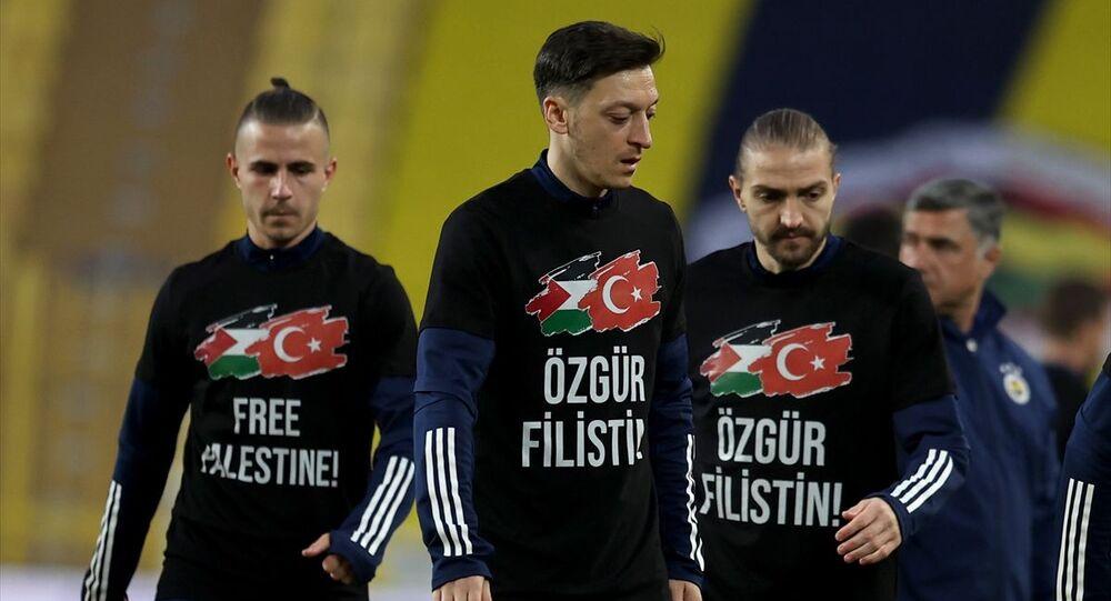 Fenerbahçe-Sivasspor maçında Filistin unutulmadı