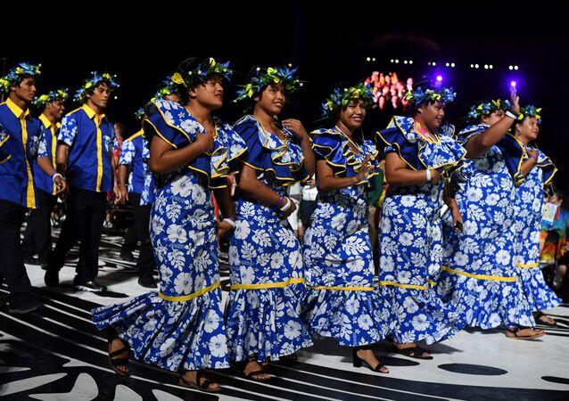 Britanya İmparatorluğu'nun eski üyelerinin oluşturduğu (İngiliz) Milletler Topluluğu Oyunları'na 2018'de katılan Nauru delegasyonu