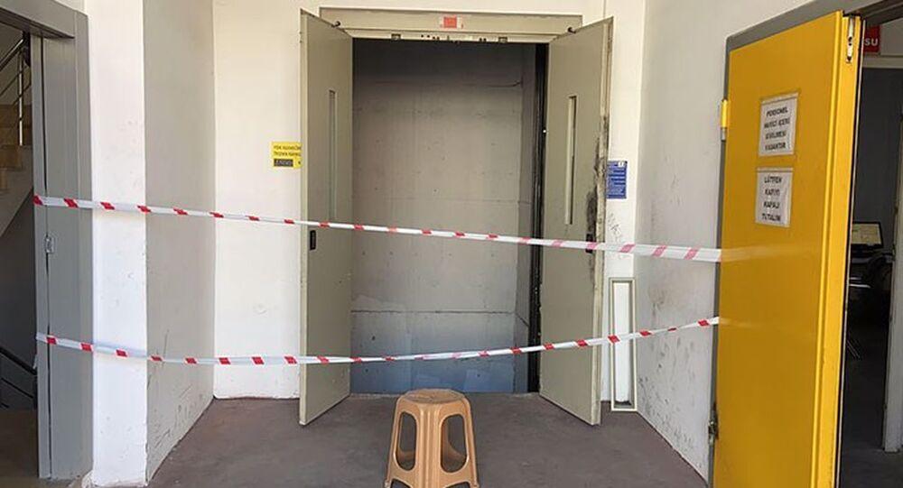 Asansör boşluğuna düşen kurye hayatını kaybetti