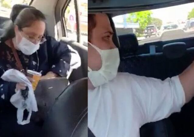 Takside çay içen müşteriden taksiciye tehdit: 'Sana gereken dersi verecekler'