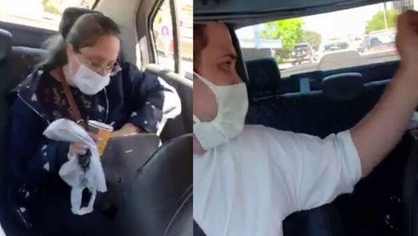 Takside çay içen müşteriden taksiciye tehdit: 'Sana gereken dersi verecekler' - Sputnik Türkiye