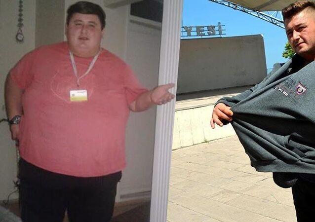 300 kilo olmasına ramak kalmışken sevgilisinin ailesi onu dışlayınca, hırs yaptı. Sadece diyet yapıp yürüyerek 6 ayda 212 kilo verdi.