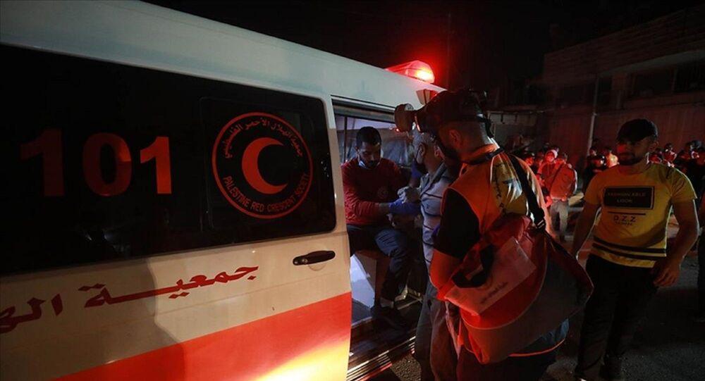 Batı Şeria - Filistin - ambulans - yaralı