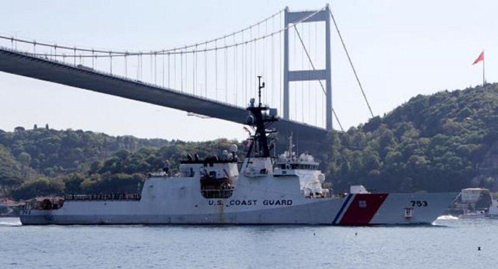 753 Borda numaralı USCGC 'Hamilton' isimli ABD sahil güvenlik gemisi