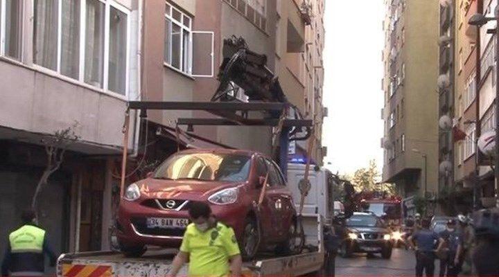 Şişli'de çökme tehlikesi olan 6 katlı bina boşaltıldı
