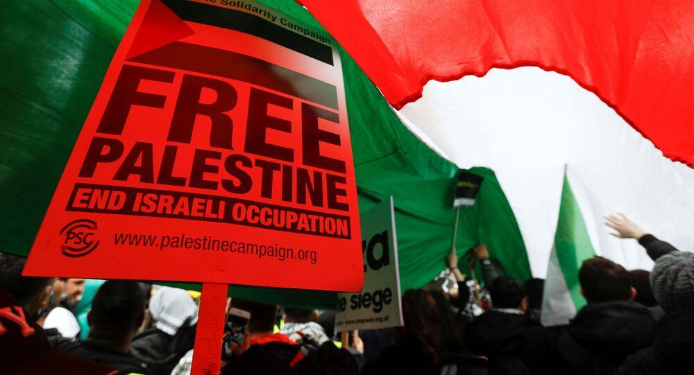 İngiltere'de İsrail protestosu