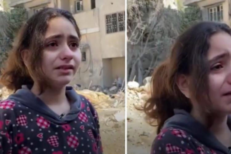"""İsrail'in Gazze Şeridi'ne yönelik hava saldırılarında evi bombalanan 10 yaşındaki kız çocuğu Nadeen Abdul Latif, İsrail'e """"Neden füze atarak çocukları öldürüyorsunuz"""" dedi."""