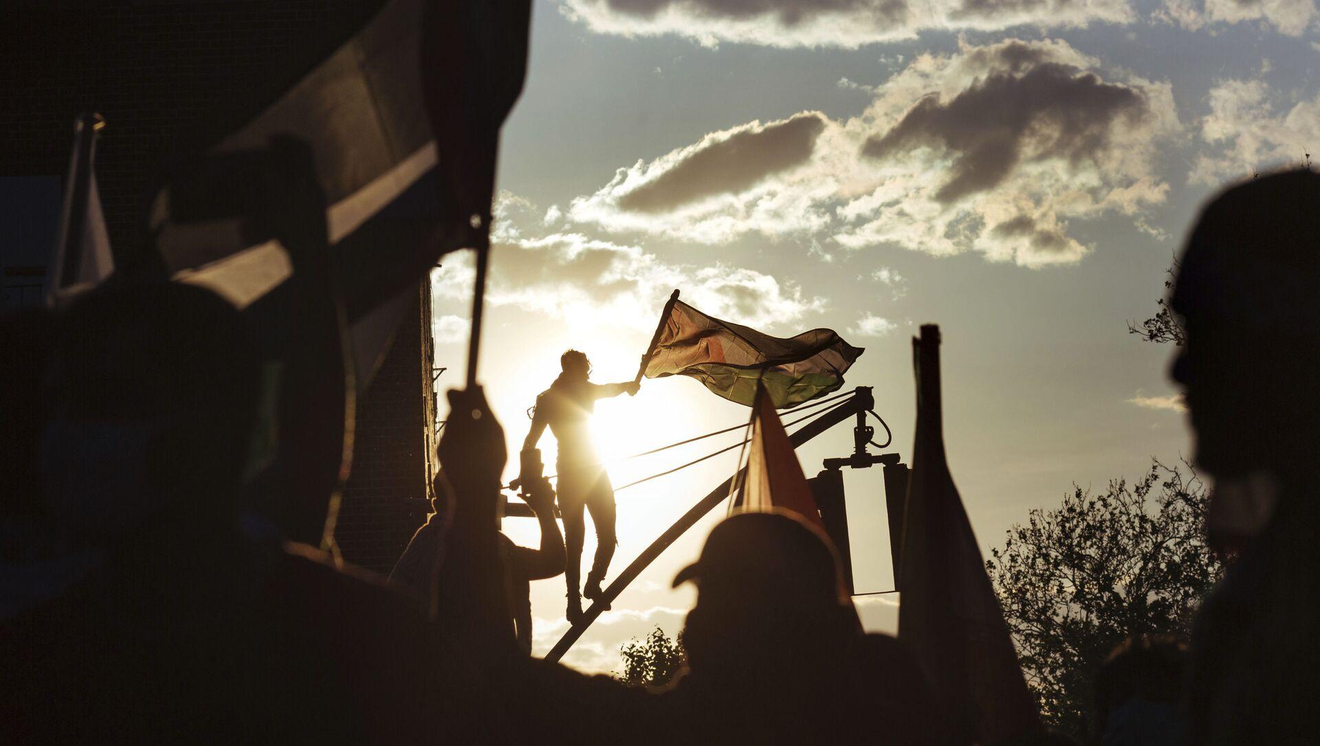 Dünyada Filistin'i destekleyen protesto gösterileri - Sputnik Türkiye, 1920, 05.08.2021
