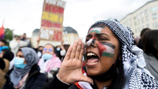 Dünyada Filistin'i destekleyen protesto gösterileri - Sputnik Türkiye