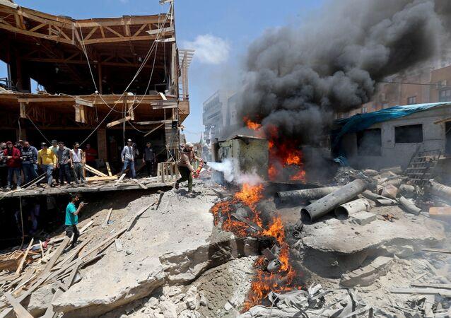 İsrail ordusunun Gazze'ye düzenlediği saldırılar