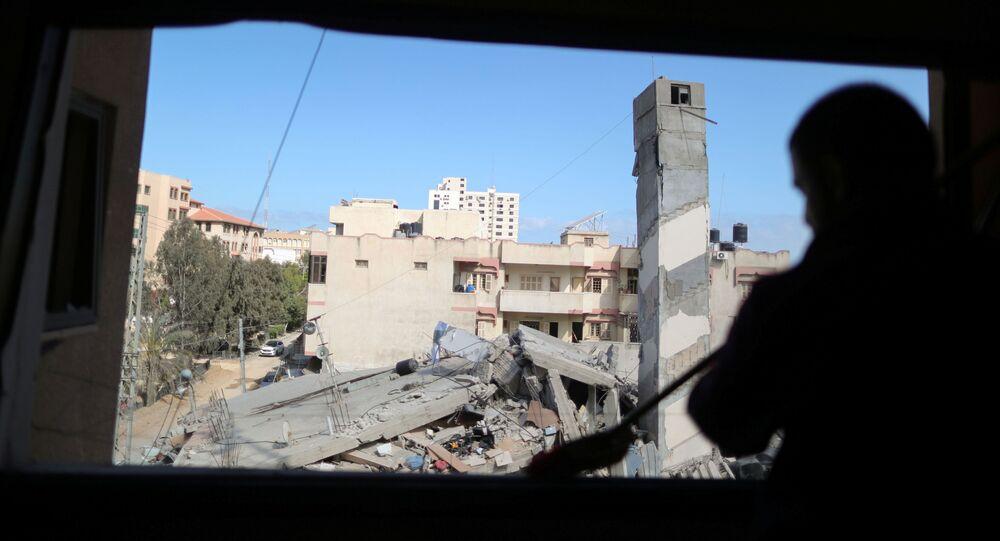 İsrail'in, Gazze Şeridi'ne düzenlediği hava saldırıları