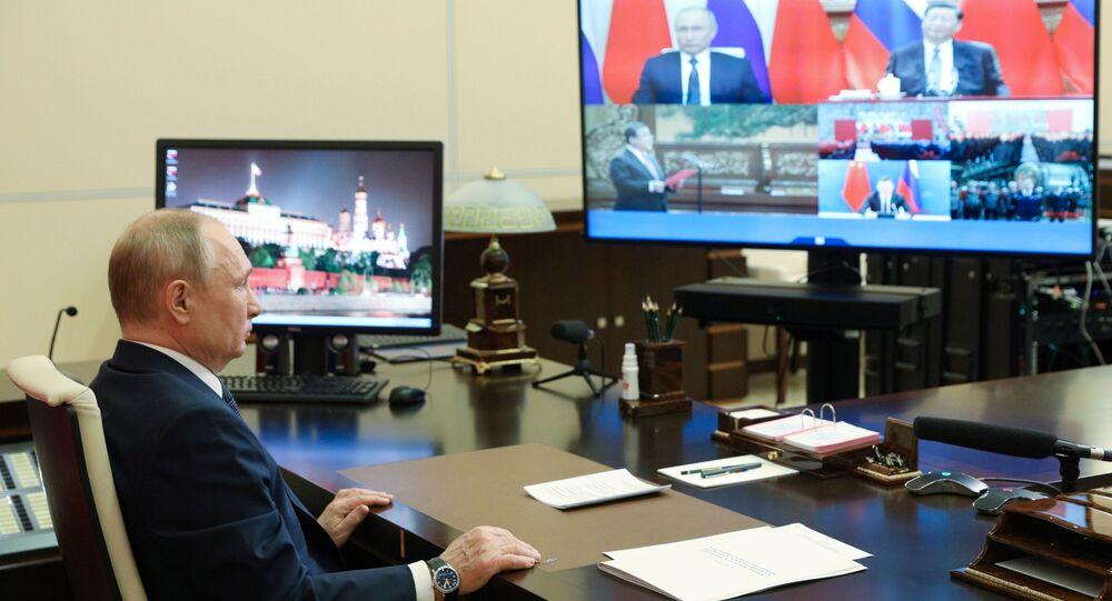 Vladimir Putin / video-konferans görüşme