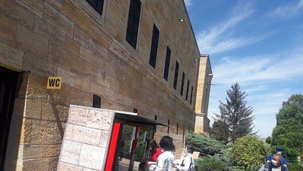 Anıtkabir'e yerleştirilen yiyecek ve içecek satışı için otomatik ticari büfeler - Sputnik Türkiye