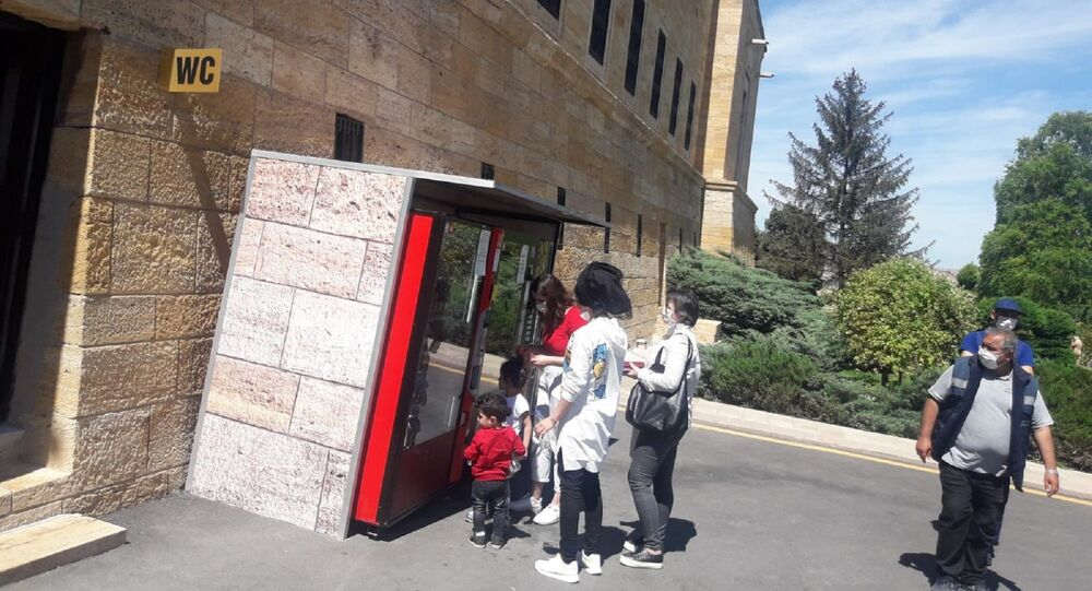 Anıtkabir'e yerleştirilen yiyecek ve içecek satışı için otomatik ticari büfeler