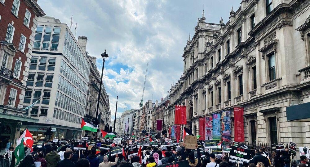 Londra'da Filistin'e destek gösterileri
