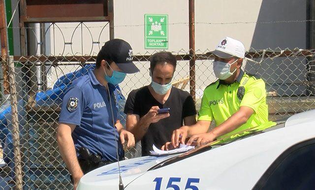 Kendisine kısıtlama ihlalinden işlem yapan ekibi görüntüleyince gözaltına alındı