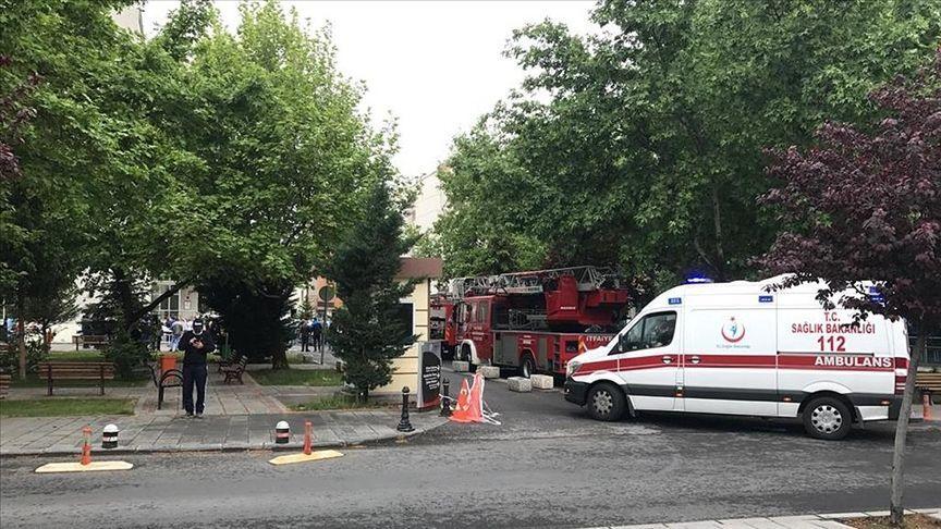Erciyes Üniversitesi hastanesinde yangın