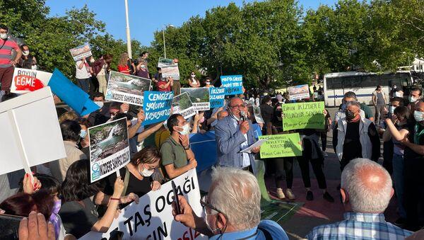 Kadıköy'de İkizdere protestosu - Sputnik Türkiye