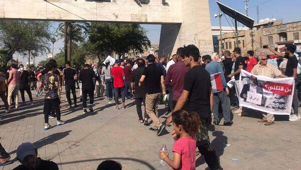 Irak - Bağdat - protesto - Sputnik Türkiye