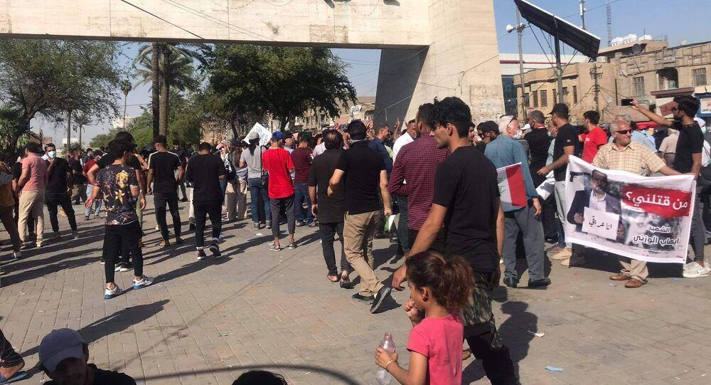 Irak - Bağdat - protesto