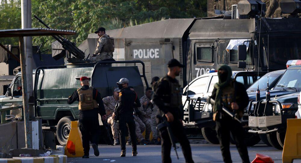 Irak'ta Haşdi Şabi güçlerinin, Bağdat Yeşil Bölge'deki kuşatması