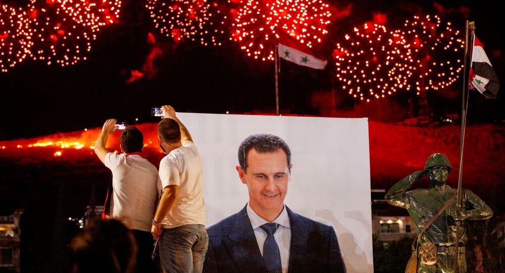 Suriye - Beşar Esad - seçim - kutlama