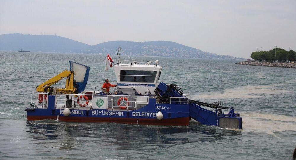 Kartal Belediyesi-İstanbul Büyükşehir Belediyesi deniz salyası temizleme